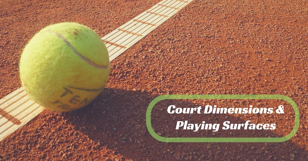 tennis court dimensions and playing surfaces